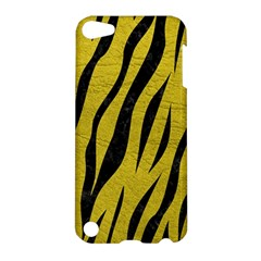 Skin3 Black Marble & Yellow Leather Apple Ipod Touch 5 Hardshell Case