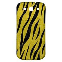 Skin3 Black Marble & Yellow Leather Samsung Galaxy S3 S Iii Classic Hardshell Back Case