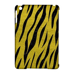 Skin3 Black Marble & Yellow Leather Apple Ipad Mini Hardshell Case (compatible With Smart Cover)