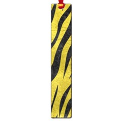 Skin3 Black Marble & Yellow Leather Large Book Marks