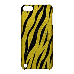 Skin3 Black Marble & Yellow Leather Apple Ipod Touch 5 Hardshell Case With Stand