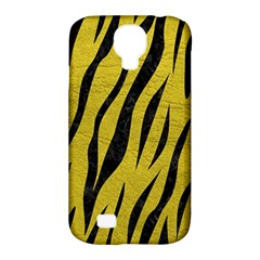 Skin3 Black Marble & Yellow Leather Samsung Galaxy S4 Classic Hardshell Case (pc+silicone)