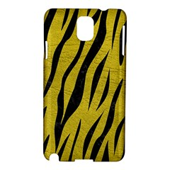 Skin3 Black Marble & Yellow Leather Samsung Galaxy Note 3 N9005 Hardshell Case