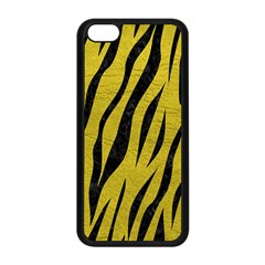 Skin3 Black Marble & Yellow Leather Apple Iphone 5c Seamless Case (black)