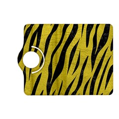 Skin3 Black Marble & Yellow Leather Kindle Fire Hd (2013) Flip 360 Case