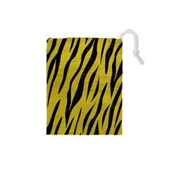 Skin3 Black Marble & Yellow Leather Drawstring Pouches (small)