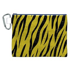Skin3 Black Marble & Yellow Leather Canvas Cosmetic Bag (xxl)