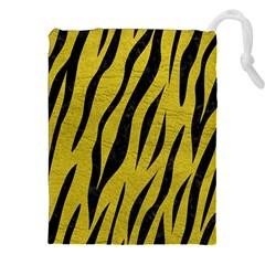 Skin3 Black Marble & Yellow Leather Drawstring Pouches (xxl)