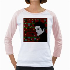 Elvis Presley   Christmas Girly Raglans