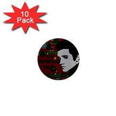 Elvis Presley   Christmas 1  Mini Magnet (10 Pack)
