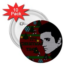 Elvis Presley   Christmas 2 25  Buttons (10 Pack)
