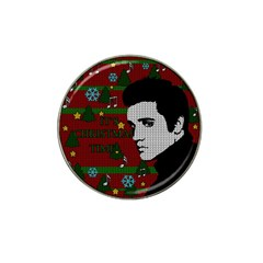 Elvis Presley   Christmas Hat Clip Ball Marker (10 Pack)