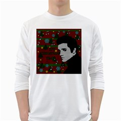 Elvis Presley   Christmas White Long Sleeve T Shirts