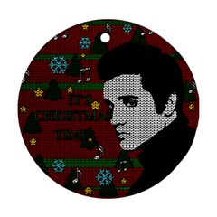 Elvis Presley   Christmas Round Ornament (two Sides)