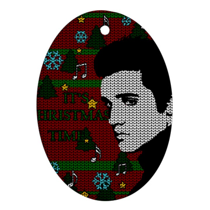 Elvis Presley - Christmas Oval Ornament (Two Sides)