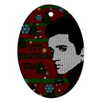 Elvis Presley - Christmas Oval Ornament (Two Sides) Back