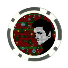 Elvis Presley   Christmas Poker Chip Card Guard (10 Pack)