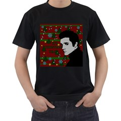 Elvis Presley   Christmas Men s T Shirt (black)