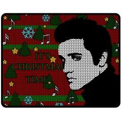 Elvis Presley   Christmas Fleece Blanket (medium)