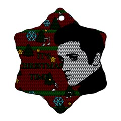 Elvis Presley   Christmas Snowflake Ornament (two Sides)