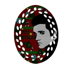Elvis Presley   Christmas Ornament (oval Filigree)