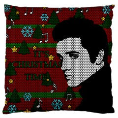 Elvis Presley   Christmas Large Cushion Case (one Side)
