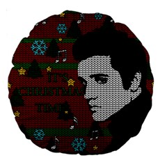Elvis Presley   Christmas Large 18  Premium Round Cushions