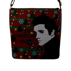 Elvis Presley   Christmas Flap Messenger Bag (l)