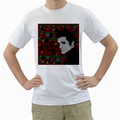 Elvis Presley   Christmas Men s T Shirt (white)