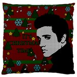 Elvis Presley - Christmas Large Flano Cushion Case (One Side) Front