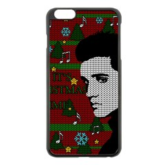 Elvis Presley   Christmas Apple Iphone 6 Plus/6s Plus Black Enamel Case