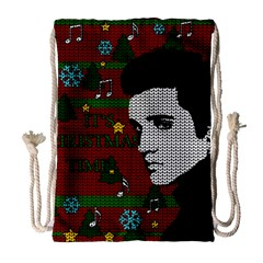 Elvis Presley   Christmas Drawstring Bag (large)