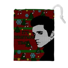 Elvis Presley   Christmas Drawstring Pouches (extra Large)