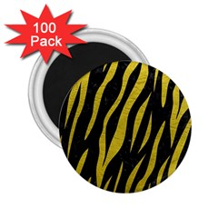 Skin3 Black Marble & Yellow Leather (r) 2 25  Magnets (100 Pack)