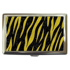 Skin3 Black Marble & Yellow Leather (r) Cigarette Money Cases