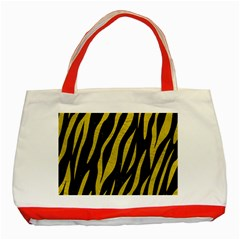 Skin3 Black Marble & Yellow Leather (r) Classic Tote Bag (red)