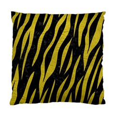 Skin3 Black Marble & Yellow Leather (r) Standard Cushion Case (two Sides)