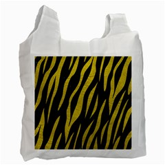 Skin3 Black Marble & Yellow Leather (r) Recycle Bag (one Side)