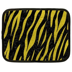 Skin3 Black Marble & Yellow Leather (r) Netbook Case (xxl)