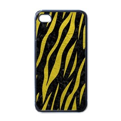 Skin3 Black Marble & Yellow Leather (r) Apple Iphone 4 Case (black)