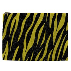 Skin3 Black Marble & Yellow Leather (r) Cosmetic Bag (xxl)