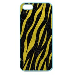 Skin3 Black Marble & Yellow Leather (r) Apple Seamless Iphone 5 Case (color)