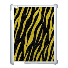 Skin3 Black Marble & Yellow Leather (r) Apple Ipad 3/4 Case (white)