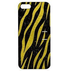 Skin3 Black Marble & Yellow Leather (r) Apple Iphone 5 Hardshell Case With Stand