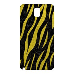 Skin3 Black Marble & Yellow Leather (r) Samsung Galaxy Note 3 N9005 Hardshell Back Case