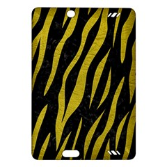 Skin3 Black Marble & Yellow Leather (r) Amazon Kindle Fire Hd (2013) Hardshell Case