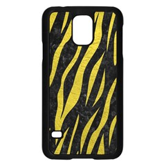 Skin3 Black Marble & Yellow Leather (r) Samsung Galaxy S5 Case (black)