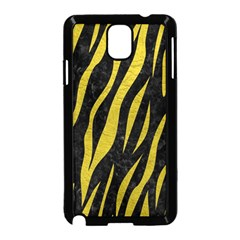 Skin3 Black Marble & Yellow Leather (r) Samsung Galaxy Note 3 Neo Hardshell Case (black)