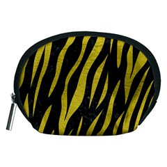 Skin3 Black Marble & Yellow Leather (r) Accessory Pouches (medium)