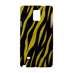 Skin3 Black Marble & Yellow Leather (r) Samsung Galaxy Note 4 Hardshell Case